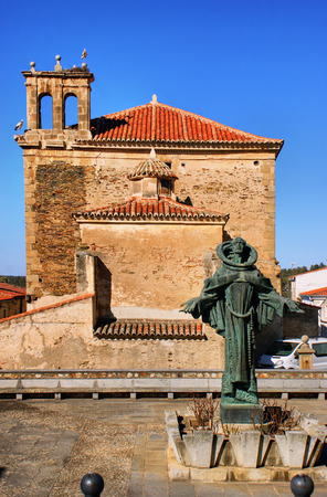 San Pedro de Alcantara statue in Spain Stock Photo - 35238411