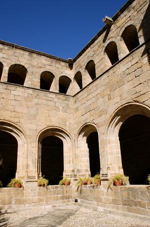 Cloister of San Benito convent, Alcantara (Spain) Stock Photo - 35238442