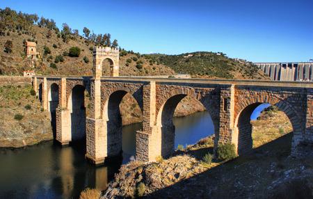 Roman bridge of Alcantara in Spain Stock Photo - 35238454