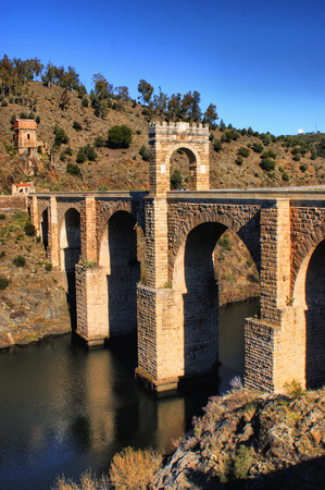 Roman bridge of Alcantara in Spain