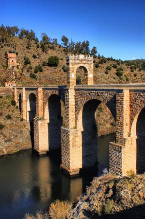 Roman bridge of Alcantara in Spain Stock Photo - 35238457