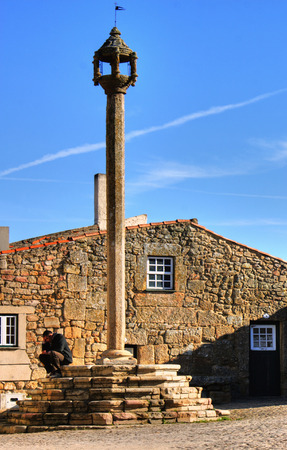 Pillory in historical village of Castelo Mendo, Portugal