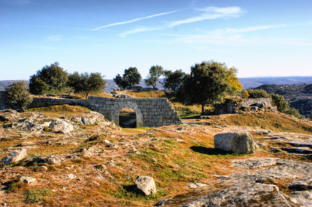 Ruins in historical village of Castelo Mendo, Portugal Stock Photo - 35362374
