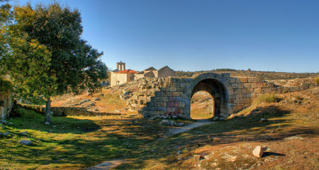 Ruins in historical village of Castelo Mendo, Portugal Stock Photo - 35362376