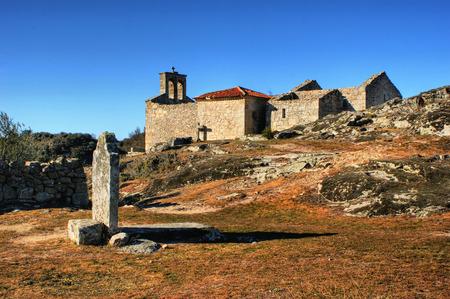 Grave in historical village of Castelo Mendo, Portugal Stock Photo - 35362378