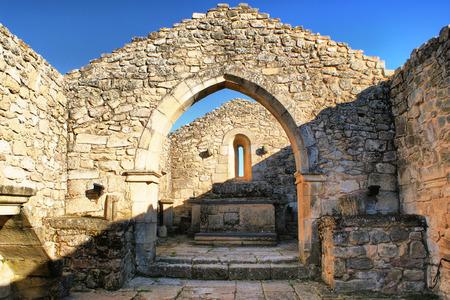 Church ruins in historical village of Castelo Mendo, Portugal photo