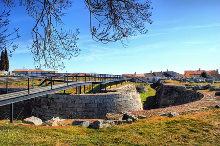 Almeida historical village and fortified walls in Portugal Stock Photo - 37108697