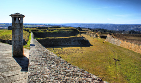 Almeida historical village and fortified walls in Portugal Stock Photo - 37083085