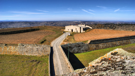 Almeida historical village fortified walls in Portugal