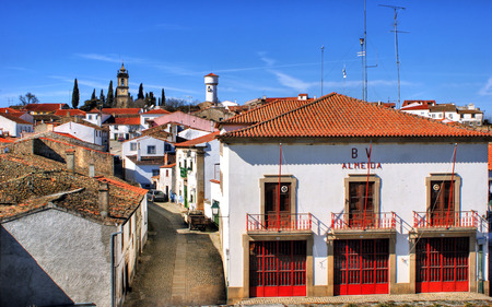 Almeida historical village and fire station in Portugal Stock Photo - 37083099