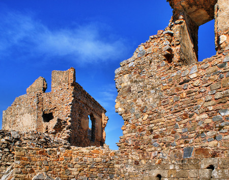 Ruins of Cristovao de Moura palace in Castelo Rodrigo, Portugal Stock Photo - 38561638