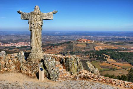Panorama of Sierra Marofa in Figueira de Castelo Rodrigo, Portugal