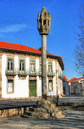 Pinhel village pillory in Portugal Stock Photo - 38923388