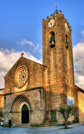 pilgrim journey: Ancient gothic church of Ponte de Lima, north of Portugal