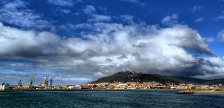 Great clouds over Viana do Castelo in Portugal