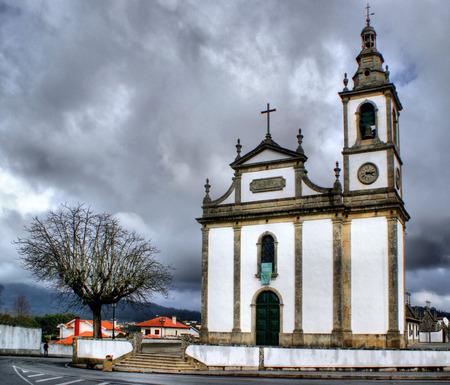Santa Marta de Portuzelo church in Portugal Stock Photo - 43424405