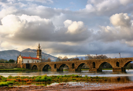 Roman and medieval bridge of Ponte de Lima in Portugal
