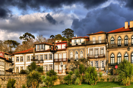 Houses of Ponte de Lima in Portugal Stock Photo - 43424418