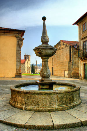 Fountain square in Barcelos, Portugal