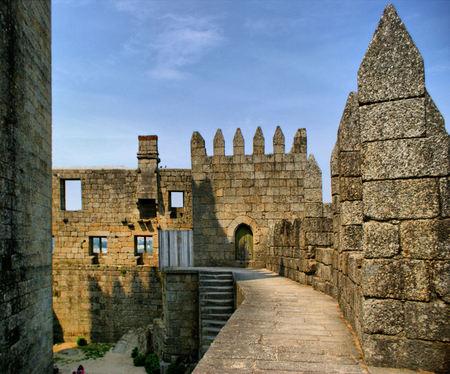 Guimaraes castle in the north of Portugal Stock Photo - 46255828