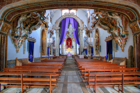 Inside Santa Marinha convent, in Guimaraes, north of Portugal. Stock Photo - 46255836