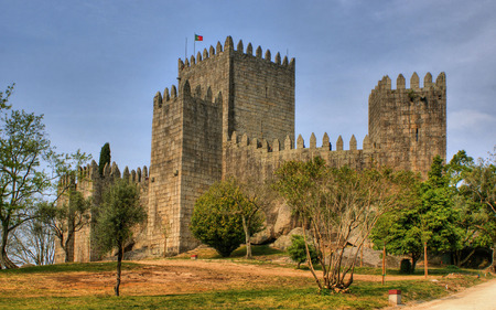 guimaraes: Guimaraes castle in the north of Portugal