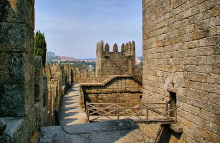 Guimaraes castle in the north of Portugal Stock Photo - 46255837