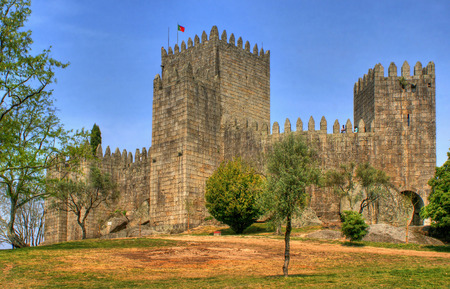 Guimaraes castle in the north of Portugal