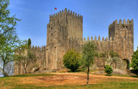 Guimaraes castle in the north of Portugal Stock Photo - 46255839