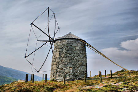 Old windmill of Aboim in Fafe, Portugal Stock Photo - 46733447