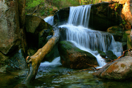 Waterfall of Queimadela in Fafe, Portugal Stock Photo - 46733457