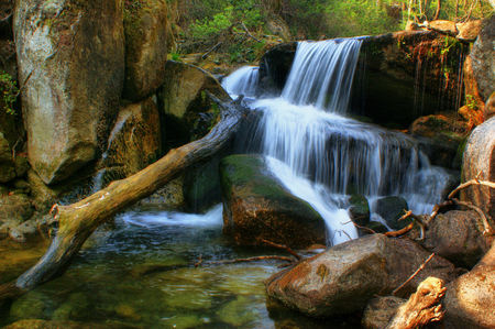 Waterfall of Queimadela in Fafe, Portugal Stock Photo - 46733461