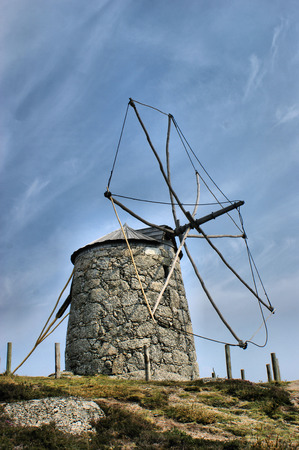 Old windmill of Aboim in Fafe, Portugal Stock Photo - 46733463