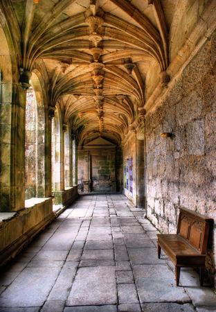 Cloister of Sao Goncalo monastery in Amarante, Portugal Stock Photo - 47085254