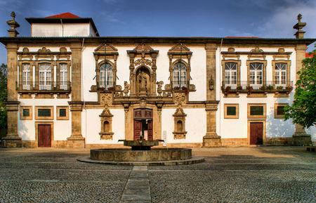 cityhall: Guimaraes City-Hall in the former Santa Clara convent, Portugal Editorial