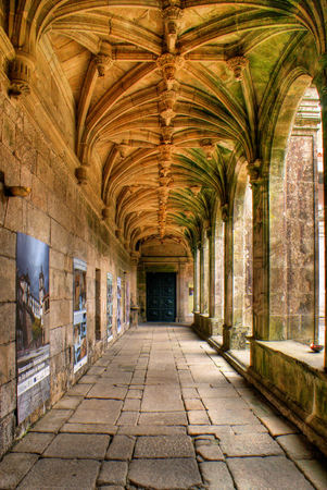 Cloister of Sao Goncalo monastery in Amarante, Portugal Stock Photo - 47085264