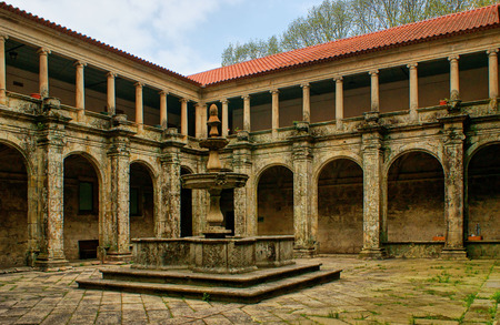 Cloister of Sao Goncalo monastery in Amarante, Portugal Stock Photo - 47171322