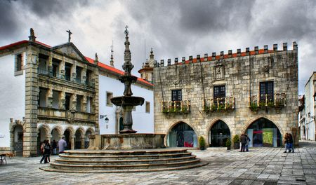 Praca da Republica in Viana do Castelo, Portugal Stock Photo - 47300804