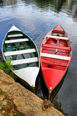River boats in Amarante, Portugal Stock Photo - 47380690