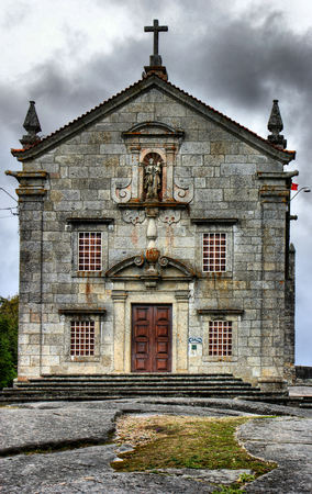 Our Lady of Pilar sanctuary in Povoa de Lanhoso, Portugal Stock Photo - 48118383