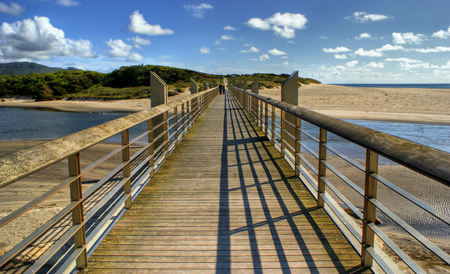 Pawn bridge in Vila Praia de Ancora, Portugal