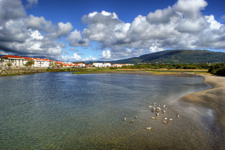 River scenery in Vila Praia de Ancora, north of Portugal Stock Photo - 49584789
