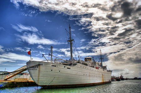 The historical medical ship Gil Eanes in Viana do Castelo, Portugal Stock Photo - 50410007