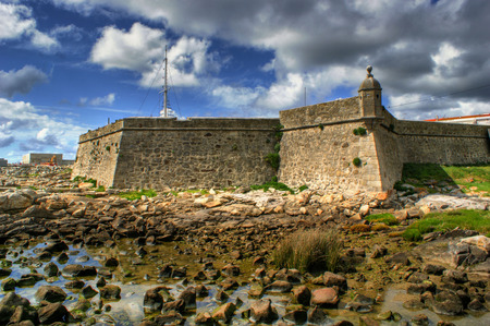 praia: Lagarteira fortress in Vila Praia de Ancora, Portugal