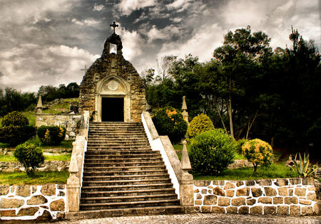 mistic: Our Lady of Lurdes cave, Vila Praia de ncora, Portugal