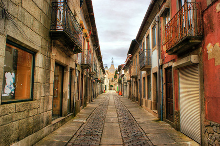 Street of Caminha in Portugal