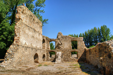 Ruins of Monastery of Carracedo on Bierzo, Spain Stock Photo