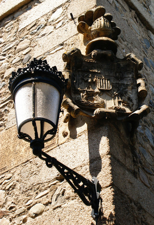 Street lamp in Molinaseca, Leon, Spain Stock Photo