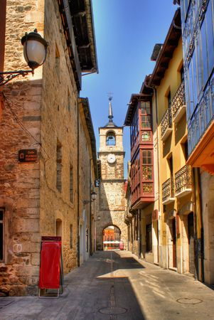Old street of Ponferrada, Leon, Spain