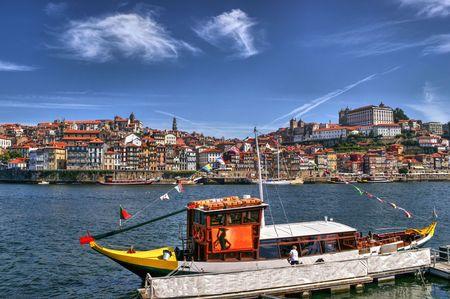 Douro river and traditional boats in Porto, Portugal Stock Photo - 64973778